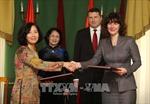 Phó Chủ tịch nước Đặng Thị Ngọc Thịnh hội kiến với Tổng thống Cộng hòa Latvia