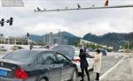 Nhìn nhầm khỉ mông đỏ thành đèn giao thông, một phụ nữ gây tai nạn