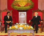 Tổng Bí thư Nguyễn Phú Trọng tiếp Chủ tịch Thượng viện Indonesia