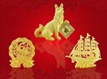 Sản phẩm vàng hình linh vật năm Tuất đắt hàng ngày vía Thần Tài