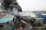Hàn Quốc: Hỏa hoạn tại một nhà máy xử lý hóa chất