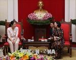 Trưởng Ban Dân vận Trung ương tiếp Đoàn nữ nghị sĩ Nhật Bản