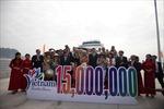 Việt Nam đón khách quốc tế thứ 15 triệu