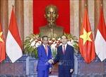 Chủ tịch nước Trần Đại Quang và Phu nhân chủ trì lễ đón Tổng thống Cộng hòa Indonesia và Phu nhân