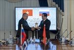 Chủ tịch Mặt trận Tổ quốc Việt Nam hội đàm với Phó Chủ tịch Hội đồng Liên bang Nga