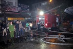 Cháy lớn thiêu rụi hàng loạt ki ốt tại chợ đầu mối Đông Hương, Thanh Hóa