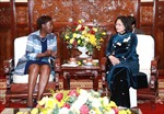 Phó Chủ tịch nước Đặng Thị Ngọc Thịnh tiếp Tổng Thư ký Pháp ngữ