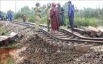 Đường sắt thiệt hại nặng do mưa lũ tại miền Trung