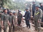 Vụ sạt lở ở Nam Trà My: Nỗ lực tìm kiếm nạn nhân trước khi bão số 10 tràn vào