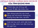 Chỉ đạo phòng, chống dịch COVID-19 của tỉnh Quảng Ninh