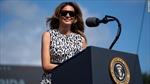 Bà Melania ca ngợi chồng trong buổi vận động tranh cử hiếm hoi cùng ông Trump