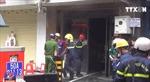 Giải cứu 2 người trong vụ cháy tại tiệm bánh ở phố Tây Thành phố Hồ Chí Minh