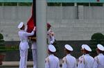Lễ treo cờ rủ Quốc tang Chủ tịch nước Trần Đại Quang tại quảng trường Ba Đình