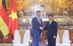 Chủ tịch UBND TP Hà Nội tiếp Bộ trưởng Kinh tế, Lao động, Vận tải; Phó thủ hiến bang Sachsen - Cộng hoà liên bang Đức