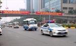 Hàng trăm cảnh sát cùng các phương tiện tổng duyệt phương án dẫn đoàn phục vụ Đại hội Đảng