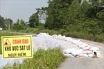 Sụt lún nghiêm trọng tại nhiều điểm đê ở Hà Nội