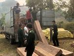 Bắt giữ vụ vận chuyển trái phép 14m3 gỗ từ Lào về Việt Nam