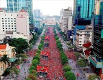 Truyền hình trực tiếp 9 trận cầu tại phố đi bộ Nguyễn Huệ