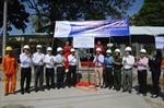 Gắn biển hoàn thành Công trình cấp điện lưới Quốc gia ra xã đảo Tiên Hải