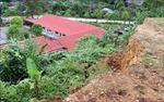 Cần sớm khắc phục nguy cơ sạt lở ở phía sau Trường Mầm non Chợ Chậu, Lào Cai