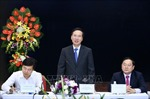 Trưởng ban Tuyên giáo Trung ương làm việc với Báo Tiền Phong
