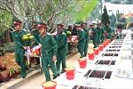 Truy điệu và an táng 11 hài cốt liệt sỹ tại Nghĩa trang Liệt sỹ Quốc gia Vị Xuyên