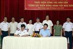 Phối hợp thực hiện công tác dân vận 'Cảnh sát Biển đồng hành cùng ngư dân'
