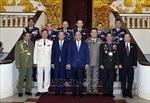 Thủ tướng tiếp các Trưởng đoàn dự Hội nghị Tư lệnh Cảnh sát các nước ASEAN