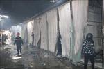 Thợ hàn sửa chữa ki ốt gây cháy chợ Gián ở Ninh Bình