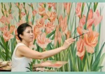Họa sỹ Nguyễn Thu Thủy khai trương 'ngôi nhà nghệ thuật' bên hồ Tây