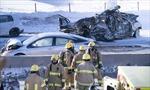200 ô tô tông nhau liên hoàn làm 2 người chết, hàng chục người bị thương