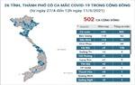 Thêm 16 ca mắc COVID-19 mới ghi nhận trong nước trưa 11/5/2021