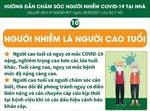 Chăm sóc người mắc COVID-19 tại nhà là người cao tuổi