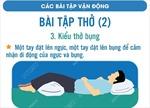 Bài tập thở bụng dành cho người nhiễm COVID-19 điều trị tại nhà