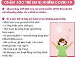 Chăm sóc người nhiễm COVID-19 tại nhà là trẻ em