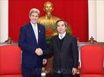 Trưởng ban Kinh tế Trung ương Nguyễn Văn Bình tiếp cựu Ngoại trưởng Hoa Kỳ John Kerry