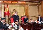 Trưởng ban Kinh tế Trung ương Nguyễn Văn Bình làm việc với Ban Thường vụ Tỉnh ủy Hà Giang