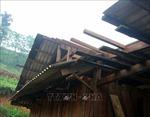 Dông lốc làm tốc mái nhiều nhà dân và trường học ở Tuyên Quang
