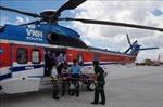 Điều trực thăng đưa chiến sỹ đột ngột trở bệnh từ Trường Sa về đất liền