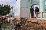 Công bố tình trạng khẩn cấp khu vực sạt lở bờ sông Cần Giuộc