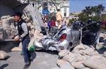 Ninh Bình: Xe tải chở xi măng lật nghiêng đè bẹp xe con làm một người tử vong