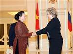 Lễ đón, hội đàm giữa Chủ tịch Quốc hội Nguyễn Thị Kim Ngân và Chủ tịch Hội đồng LB Nga
