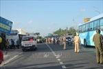 Xe khách tông xe máy tại Trạm thu phí BOT cầu Rạch Miễu làm một người tử vong