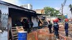 Khống chế đám cháy lớn tại xưởng gỗ ở TP Hồ Chí Minh