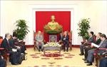 Thường trực Ban Bí thư Trần Quốc Vượng tiếp Cố vấn đặc biệt Liên minh Nghị sĩ hữu nghị Nhật - Việt