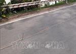 Quốc lộ 91 cũ đoạn qua xã Bình Mỹ, Châu Phú có nguy cơ sạt lở xuống Sông Hậu