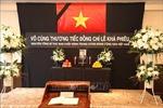 Tổ chức trọng thể Lễ viếng nguyên Tổng Bí thư Lê Khả Phiêu tại Malaysia, Nhật Bản