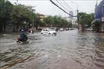 Mưa to gây ngập cục bộ nhiều tuyến đường ở thành phố Hà Tĩnh