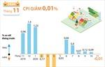CPI tháng 11/2020 giảm 0,01%