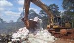 Tiêu hủy gần 25 tấn phân bón không rõ nguồn gốc